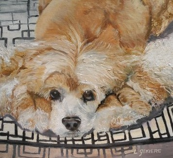 Hand Painted Oil Portraits of Dogs
